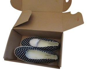 L.L.Bean Llbean Sneakers Flats navy with white dots Athletic