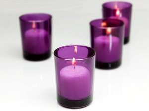 bebe Purple 72 Holders Glass Tea Light Holders Votive/Candle