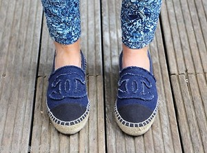 Chanel Last Pair 15a Navy Blue Flats