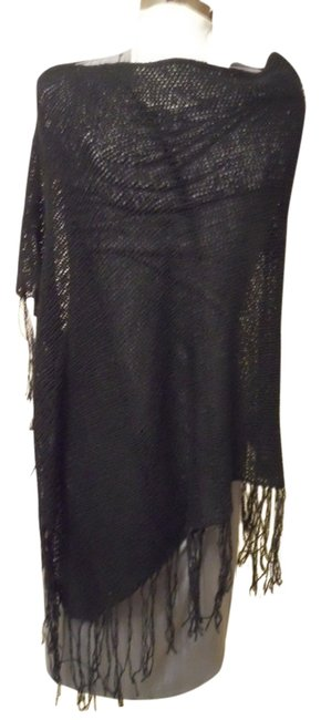 Preload https://item2.tradesy.com/images/liz-claiborne-black-fringed-ponchocape-size-os-one-size-898166-0-0.jpg?width=400&height=650