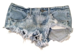 Billabong Cut Off Shorts Aztec/Light Denim