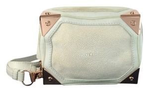 Alexander Wang Jade Rose Gold Sting Ray white Clutch