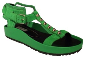 Balenciaga Green Sandals