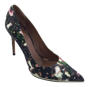 Givenchy Rose Floral Print Leather Pointed Toe Multi-Color Pumps