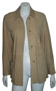 Max Mara Suede TAN Leather Jacket