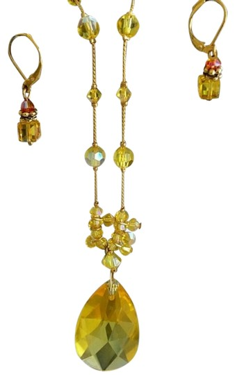 Dabby Reid Crystal Necklace and Earrings Set