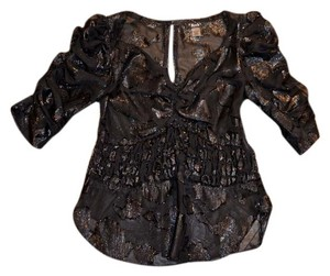 2b. RYCH Sexy Shimmery See-thorugh Black Fun Top