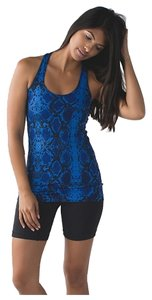 Lululemon Cool Racerback Top Blue Ziggy Snake Print