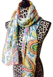 Other New NWT scarf wrap multi color pink Yellow green blue 66
