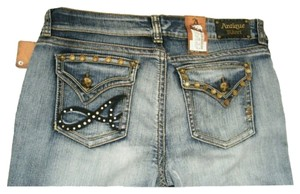 Straight Leg Jeans-Distressed
