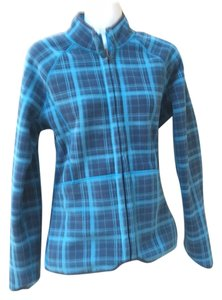 The North Face Blue and blue plaid Jacket