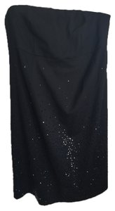 Mimi Maternity Ruth for Mimi Maternity Black Sequined Strapless Cocktail Dress