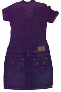 True Religion denim dress short dress Blue on Tradesy