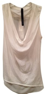 Improvd Edgy Cowl Neck Designer Cool Soft Cotton Top white