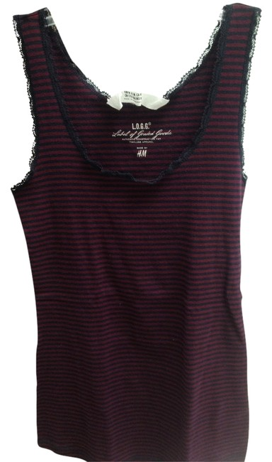 H&M Nwot Top blue with maroon