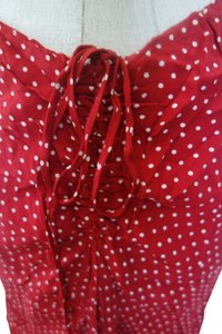 Charlotte Russe Dot Sexy Dot Dot Skirt Red w White Polka Dots