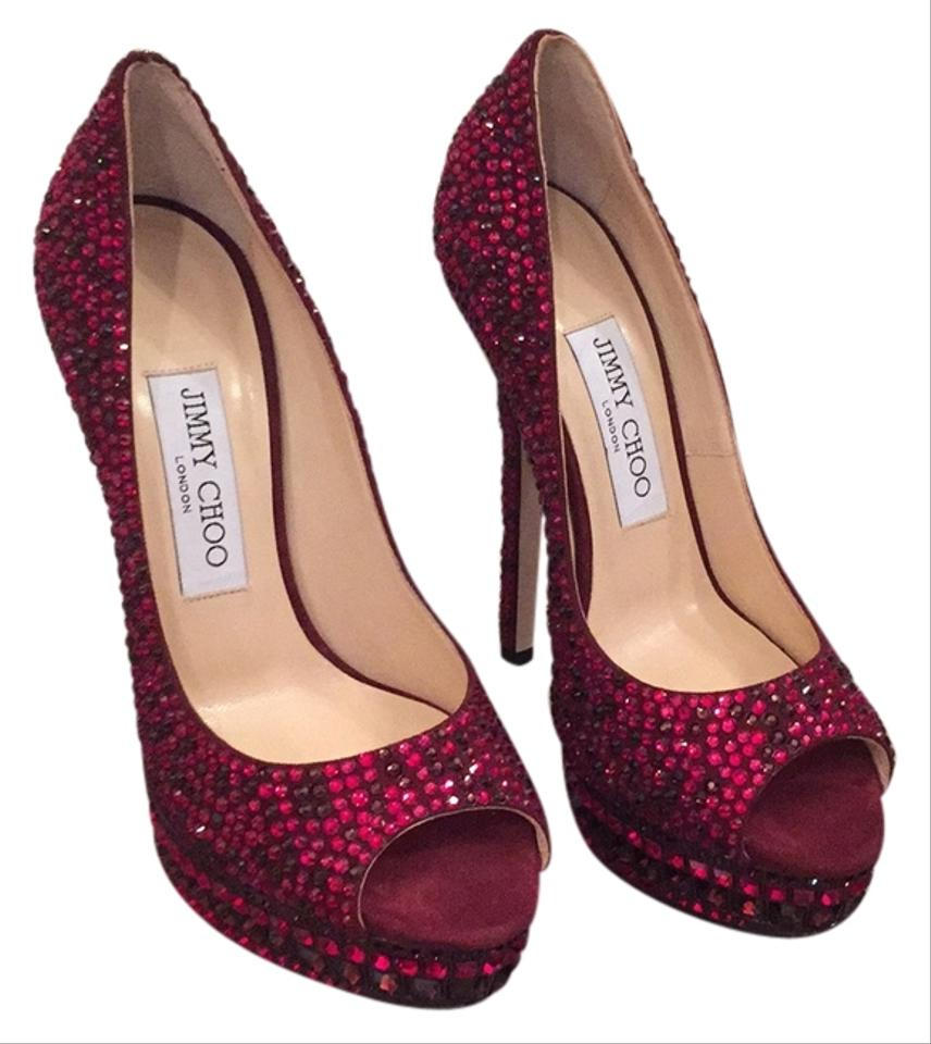 women women women Jimmy Choo Red Platforms Unique 6caa5f