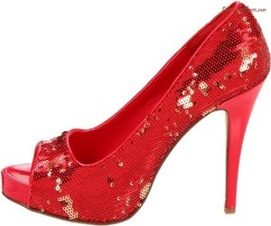 House of Deréon Red Ruby Slippers Pumps Size US 8.5