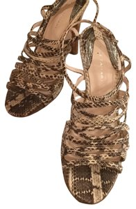 Elie Tahari Blk/brn/cream Sandals