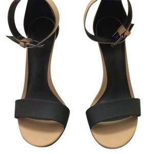 Tibi Beige and Black Sandals