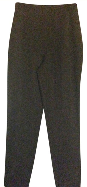 Genny Classic Wool High Waist Mint Size 44 Ita 10 Usa Italy Size 44 Trouser Pants black