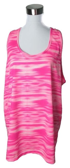 Item - Pink Athletic Performance Workout Exercise Marble Xxl/20 Activewear Top Size 20 (Plus 1x)