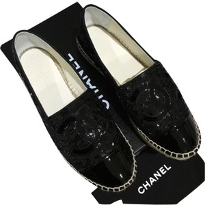 Chanel 2016 16c Cruise Espadrille Black Flats