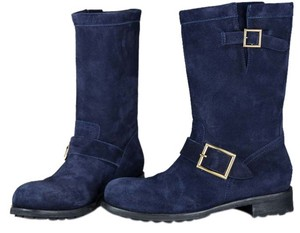 Jimmy Choo Navy Blue Boots