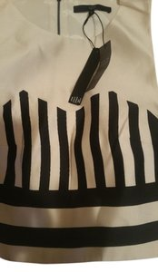 Tibi Creme and black Halter Top