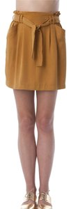 DO + BE Tencel Minisirt Mini Skirt Mustard