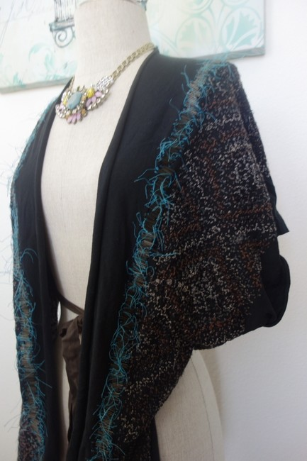 A Common Thread Crop Casual Cardigan Sexy One Of Kind Cape Cape Chic Classic Cape Crop Cape Crop Cape Top black