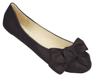 Red Circle Footwear Ballerina Bow Cute Black Flats