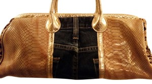 Clever Carriage Company Leather Pony Hair Satchel in Multi