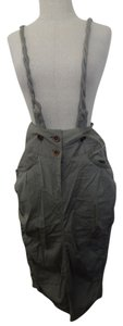 Covet One Of A Kind With Suspenders Suspender Chic One Of A Kind European Euro Chic Sexy Skirt Grey