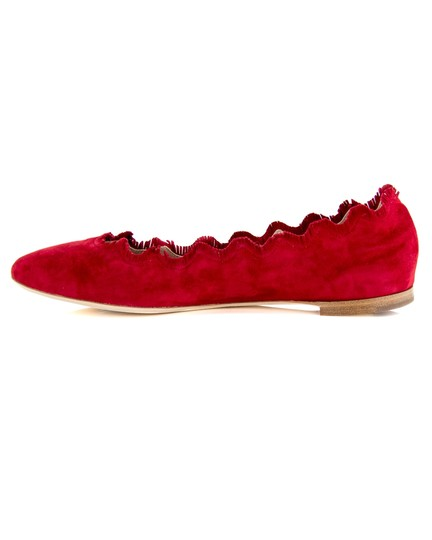 Chloé Royal Red Flats Image 1