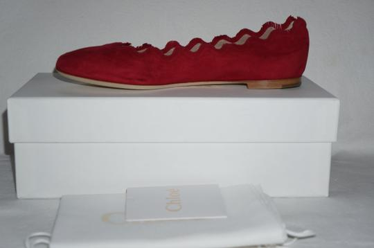 Chloé Royal Red Flats Image 10