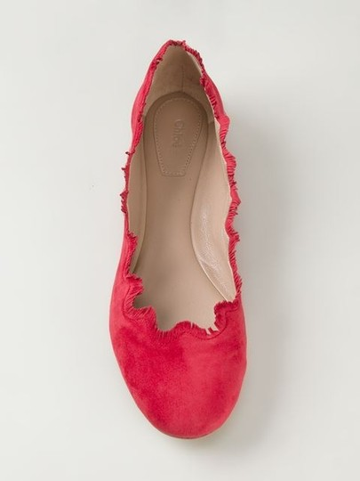 Chloé Royal Red Flats Image 3