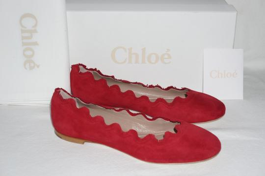 Chloé Royal Red Flats Image 6