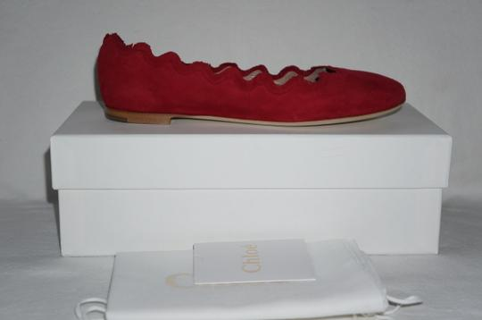 Chloé Royal Red Flats Image 9
