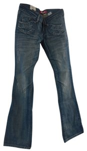 Fit Star Boot Cut Pants Blue Jeans