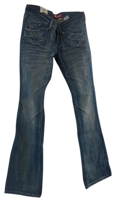 Fit Star Jeans Sexy Boot Cut Pants Blue Jeans