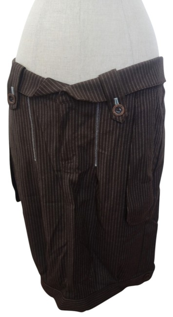 Covet One Of A Kind Hip Skirt Brown