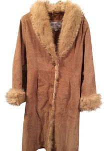 Wilsons Leather Suede Fur Comfortable Fur Coat