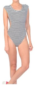 Rehab Bodysuit Stripes Top Black/ White
