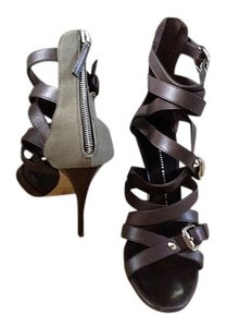 Giuseppe Zanotti Strappy Sexy Stud Detail chocolate brown Sandals