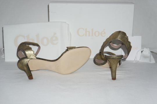 Chloé Gold Glitter Sandals