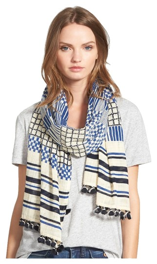 Preload https://img-static.tradesy.com/item/8995450/madewell-blue-black-and-off-white-new-mix-up-patchwork-scarfwrap-0-4-540-540.jpg