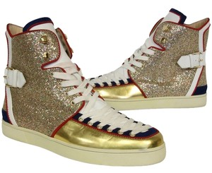 Christian Louboutin Billy Studded Acheval Niege Gold Athletic