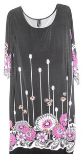 Isabella Rodriguez short dress Black with multi flowers on Tradesy
