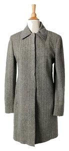 Tahari Wool Blazer Black Gray Jacket